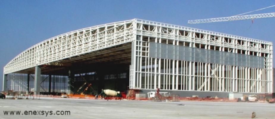 Aeroporto Atene : Copertura hangar aeroporto atene studio tecnico ing